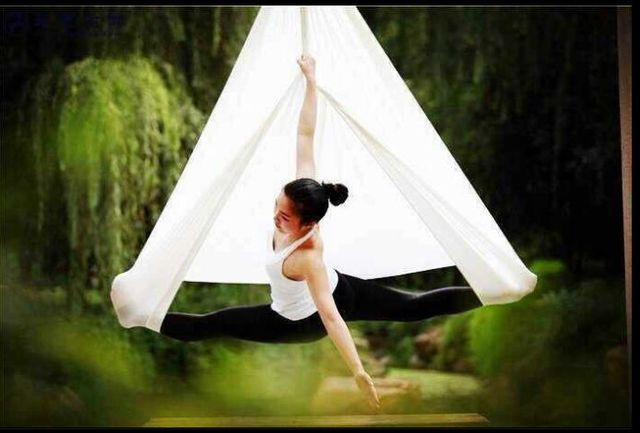 Medium image of 14 sets free shipping 2017 new style 5m full set aerial anti gravity yoga hammocks