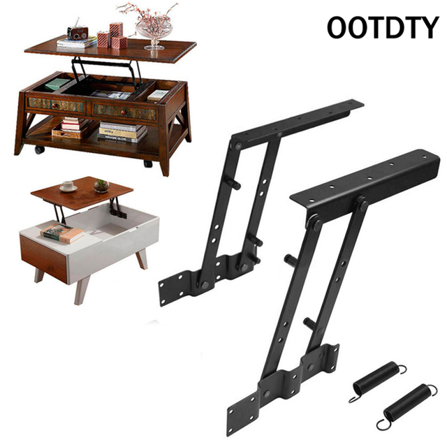 OOTDTY Multi-functional high-tech Lift Up Top Coffee Table Lifting Frame Mechanism Spring Hinge Hardware