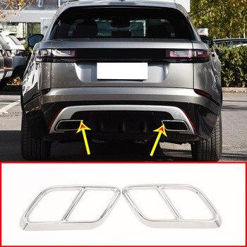 Pour Range Rover Velar 2017 2018 2019 304 acier inoxydable Chrome voiture tuyau d'échappement couvercle garniture accessoires