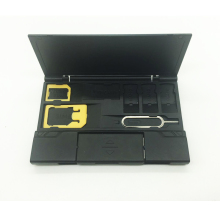 лучшая цена Micro Sim Nano Cards Storage Case Lightweight Multifunctional SIM Card Holder Box With 3 in 1 OTG card reader