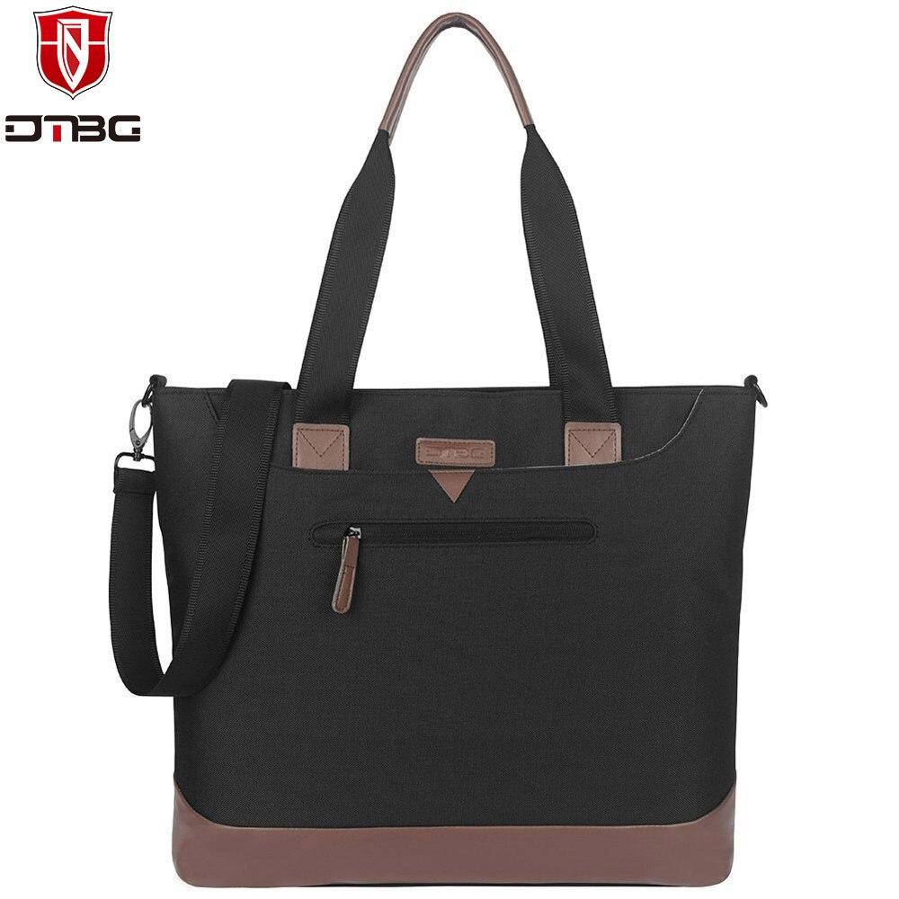 dtbg polegada laptop lona bolsa computador maleta totes para mulheres sacos de mensageiro bolsa