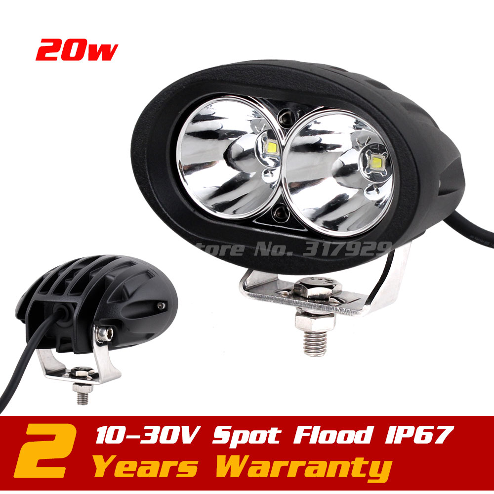 20W LED Work Light Spot Tractor ATV Motorcycle 12v 24v IP67 Offroad Fog light LED Spot Worklight External Light Seckill 10w 18w 9 90w led work light 12v 24v led drive light spot combo led lens motorcycle boat atv 4wd offroad fog lamp led worklight vs 120w