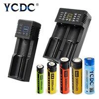 Ycdc поле универсальный Зарядное устройство + AA AAA 18650 Батарея набор литиевая nicd nimh один/два слота Аккумуляторы Мощность Дисплей