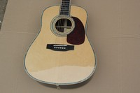 Factory Custom 41'' Firehawk Solid Spurce Top Maple Back Side natutal Acoustic Guitar can add Fishman EQ