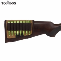 Tourbon Hunting Gun Accessories Rifle Buttstock Cheek Rest Pad Gun 10 Rifle Cartridges Ammo Shells Holder