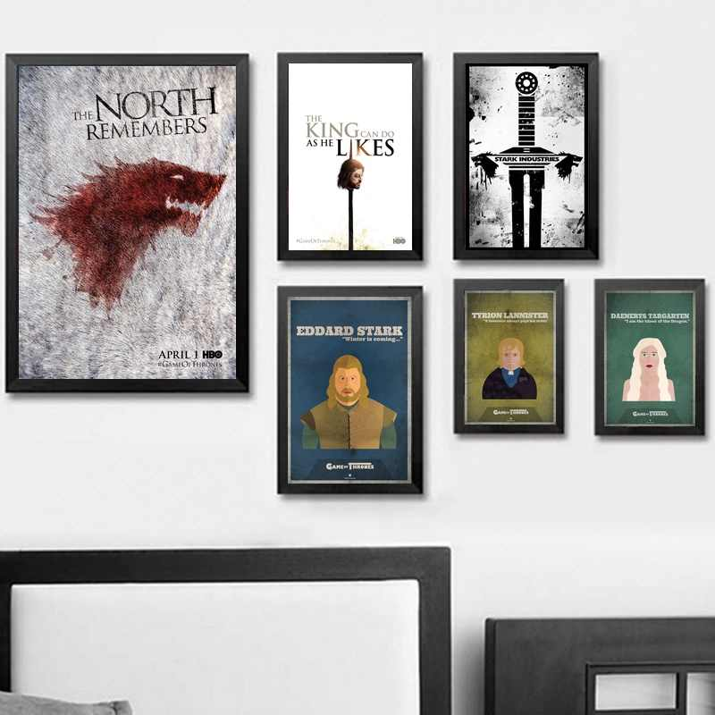 The Game Of Thrones Wall Art Paint Wall Decor Canvas Prints