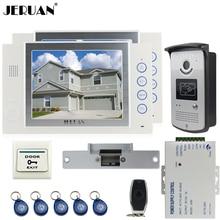 "JERUAN 8"" TFT video door phone Record intercom system kit 2 house 700TVL RFID Access IR Night Vision Camera Cathode lock 8GB SD"