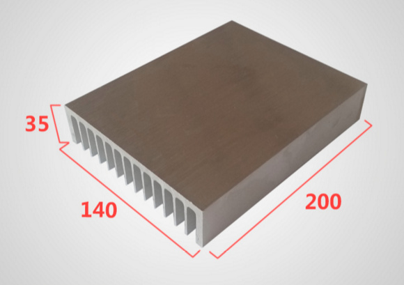 Fast Free Ship 140*35*200mm High Frequency Power Supply Aluminum Heat sink High-power Aluminum Radiator