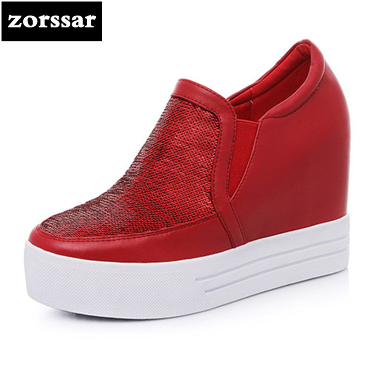 {Zorssar} Women sneakers Shoes high heel pumps 2018 New Womens Wedges Height Increasing Casual shoes Ladies Platform Shoes
