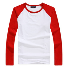 Plus size S-XXXL Classic Men T shirt Long Sleeve V O neck Mens T-shirt Cotton Tees Tops Men Brand tshirt Sweatshirts