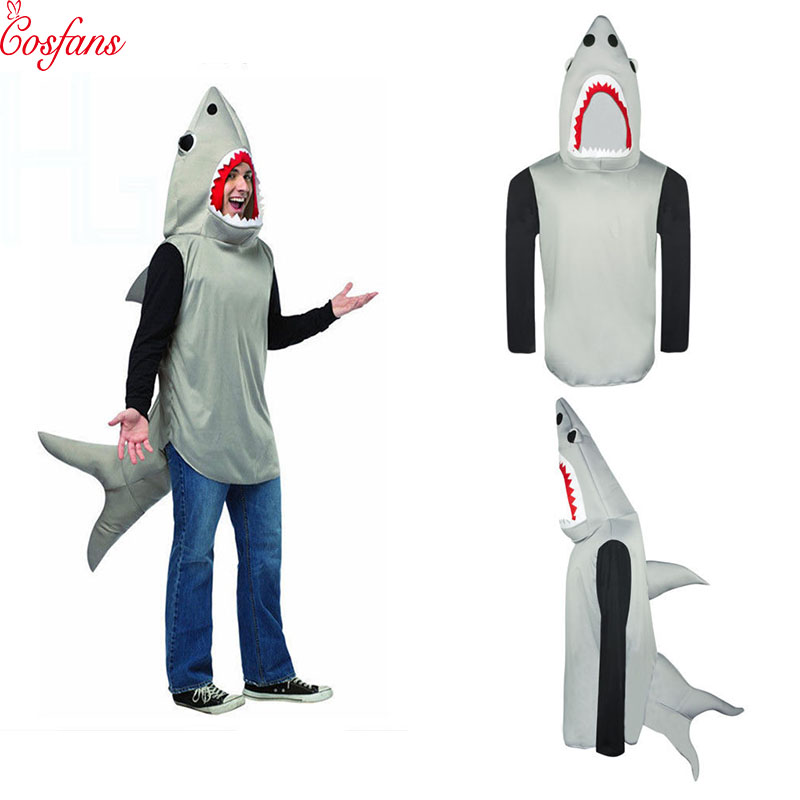 Shark cosplay costume Halloween party Sand Shark Mascot Cosplay Costume Male Female Halloween Party Animal Performance Costume