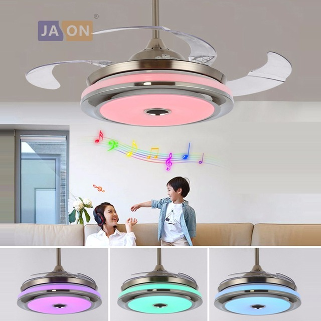 dp music contror bluetooth lighting lamp remote invisible fan ceilings with ceiling adjustable led groups chandelier