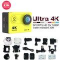 Оригинал Экен H9 Экшн камеры Ultra HD 4 К WiFi 1080 P/2.0 fps ЖК-ДИСПЛЕЙ 170 Камеры объектив Видео идти водонепроницаемая камера оригинал pro sj 4000