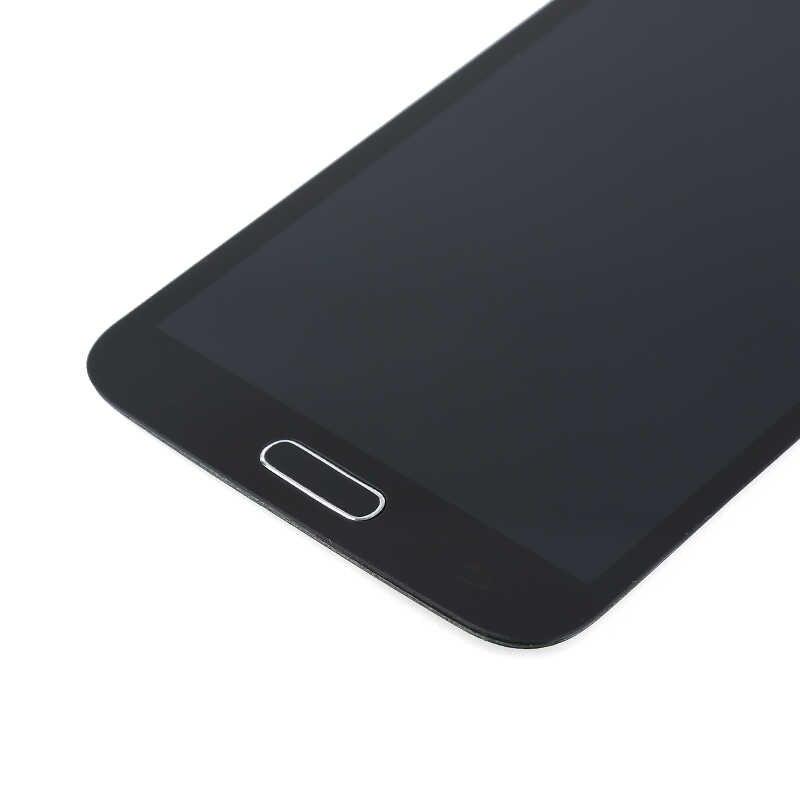 G900 Display untuk Samsung S5 LCD G900F G900 LCD Layar Sentuh Digitizer dengan Tombol Home untuk Samsung S5 Tampilan G900f LCD