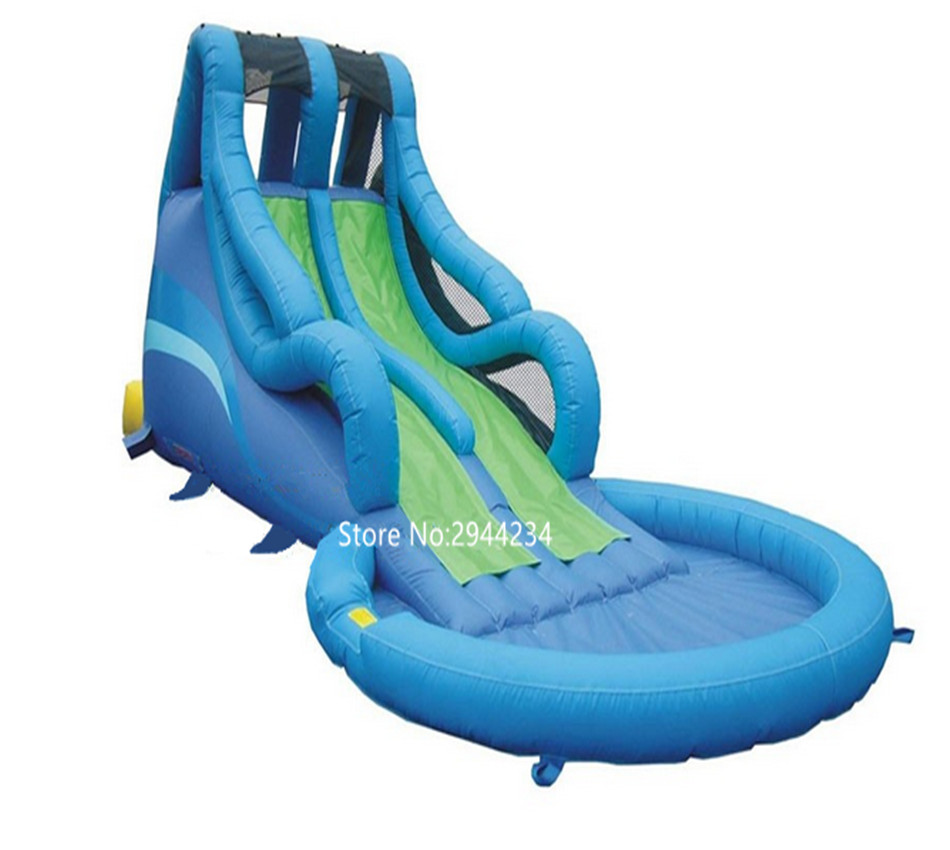 Inflatable Water Slide With Price: Factory Price Large Inflatable Water Slide With Pool