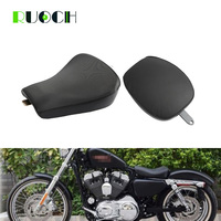 Motorcycle Leather Front Cushion Driver Solo Seat For Harley Sportster XL1200 883 72 48 07 15
