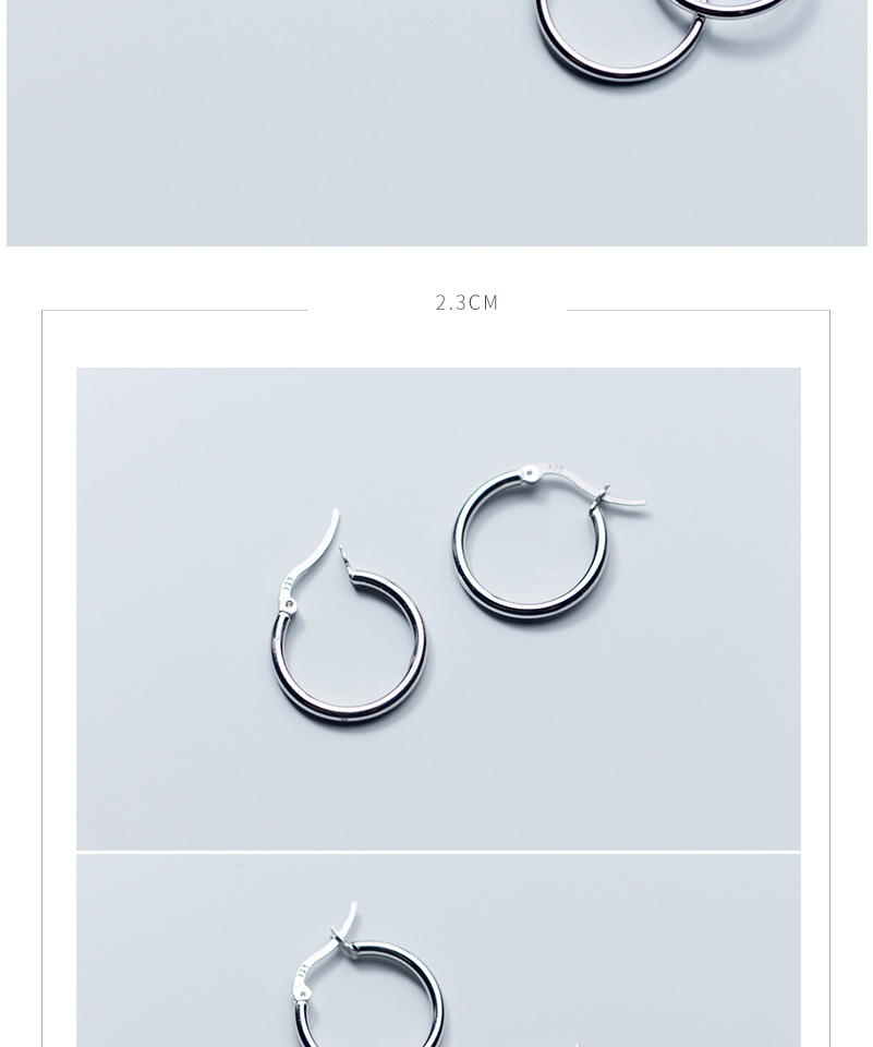 Round Hoop Earrings For Women Classic 925 Sterling Silver Ear Piercing Clip On Earring For Female Fashion Pendientes Aro Plata (9)