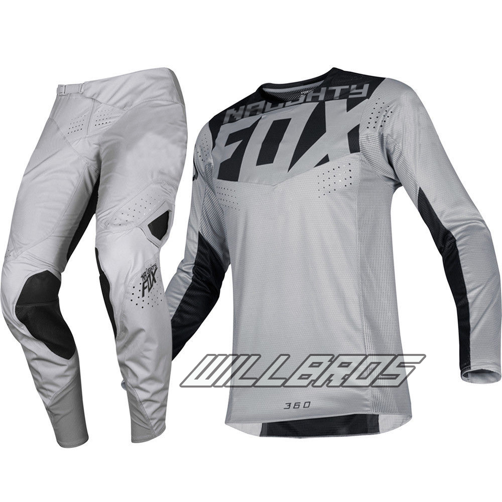 MX 360 Kila Racing Jersey pantalon Motocross Dirt bike Sports vtt ATV hommes gris Gear Set