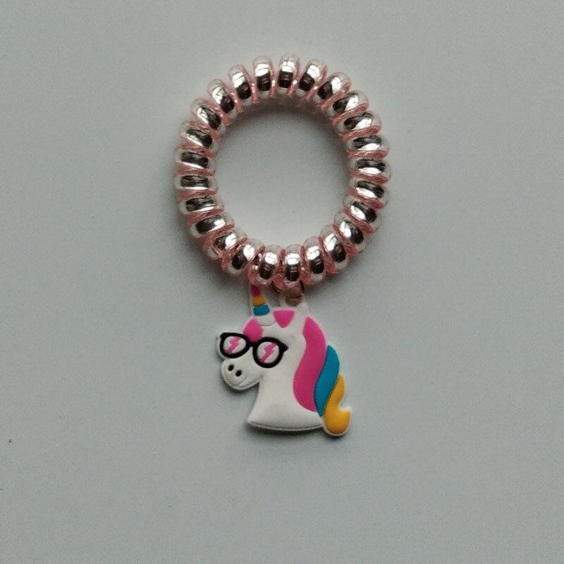 e06346d3ba6 Hot Star AB Colorful Unicorn Telephone Hair Ring Headband Gum Elastic Hair  Bands Women Ring Rope Girls Hair Accessories Headwear-in Women s Hair  Accessories ...