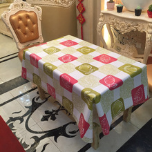 Pastoral PVC Tablecloth Printed Waterproof Oilproof Home Party Plastic  Table Cover Rectangle Tablecloths For Wedding Decoration