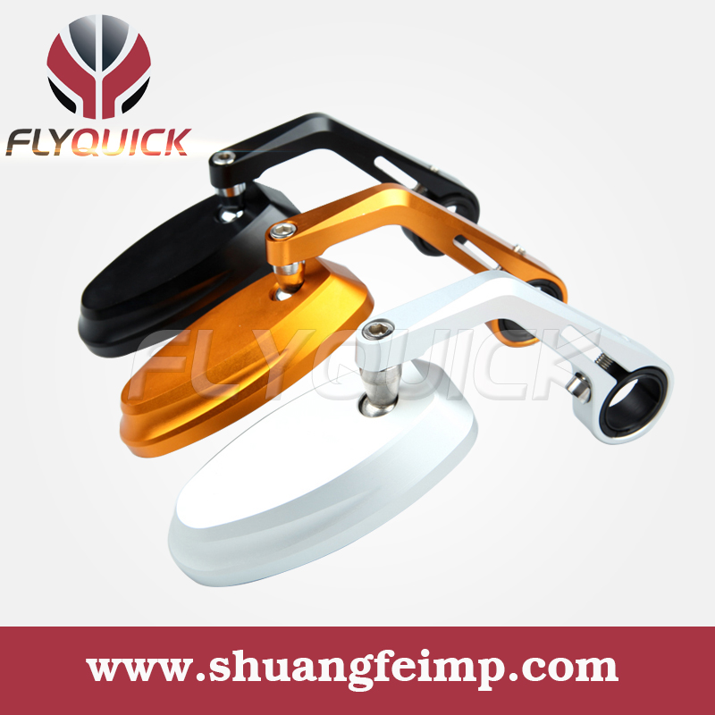 FLYQUICK Universal Aluminum Handle motorcycle cnc bar end mirrors Scooter Dirt Bike Chopper Sport Cruiser Street - ONLINE SHOP store