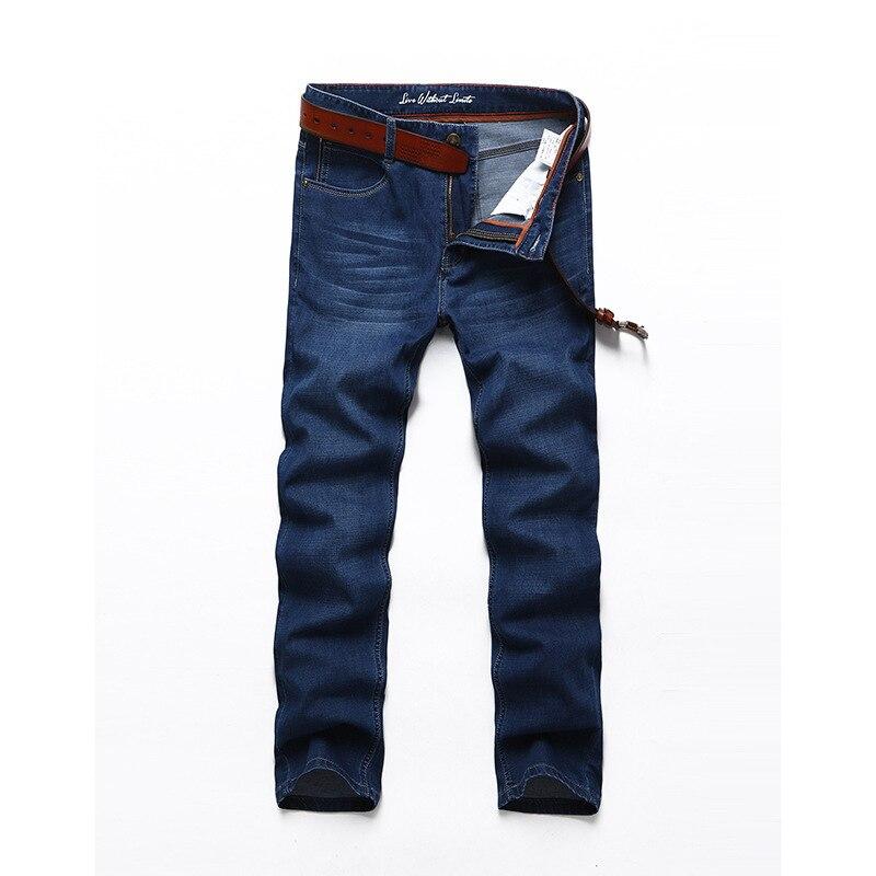 font b Men b font font b jeans b font brand Summer lightweigt elastic stretch
