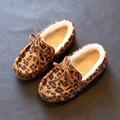 Crianças Chinelos Para Meninas 2017 Algodão-Acolchoado Sapatos Chinelo Criança Do Inverno Do Bebê Meninas/Meninos Além de Veludo Mocassins Interior Sapatos aquecimento