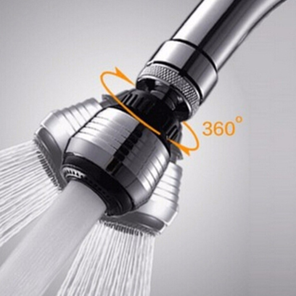360 Degree Aerator Water Bubbler Swivel Head Saving Tap Kitchen Faucet Aerator Connector Diffuser Nozzle Filter Mesh Adapter