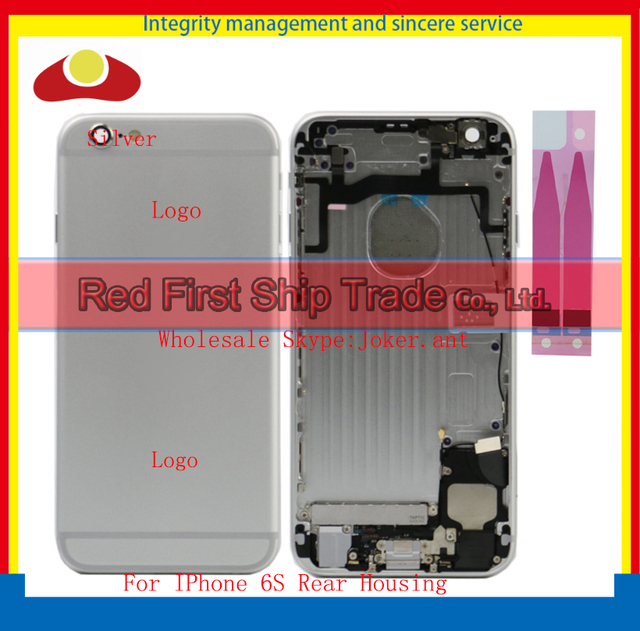 50Pcs/lot DHL EMS For IPhone 6S Chassis Middle Frame Back Rear Battery Cover Body Full Housing Flex Cables Assembly Complete