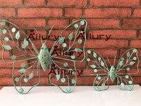 Frete grátis, antigo ferro antigo libélula pequena borboleta pingente em forma animal café pintura mural da parede decoração, decoração home