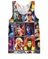 Mortal Kombat Выбрать Свой Истребитель Майка Минусовых Кано Джонни Клетке шан Цзун 3d печати Повседневная Жилет Майка Майки Для женщин мужчин
