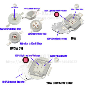 Image 4 - 3W 5W 10W 20W 30W 50W 100W High Power LED COB Chips IR 1000nm Infrared Emitter Lamp Light Bead 1000Nm 3 5 10 20 30 50 100W Watt