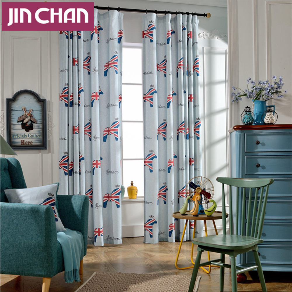Modern Cartoon Pictures Blackout Window Curtains Drapes Shades for ...
