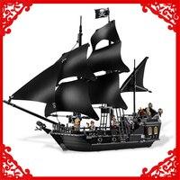 804Pcs Building Block Compatible Legoe Toys Caribbean Pirates Black Pearl Ship Model LEPIN 16006 Brinquedos Gift