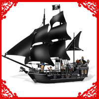 804Pcs Building Block Compatible Legoe Toys Caribbean Pirates Black Pearl Ship Model LEPIN 16006 Brinquedos Gift