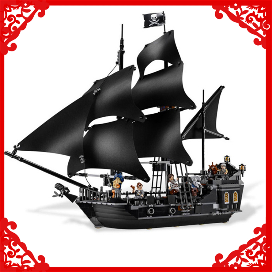 804Pcs Building Block Compatible Legoe Toys Caribbean Pirates Black Pearl Ship Model LEPIN 16006 Brinquedos Gift For Children kazi 1184pcs pirates of the caribbean black general black pearl ship model building blocks toys compatible with lepin