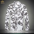 Large Size Floral Cotton National Style Camisa Masculina 5XL 4XL Brand Clothing Slim Fit Men Print Shirt Hawaiian Shirt 2017 New