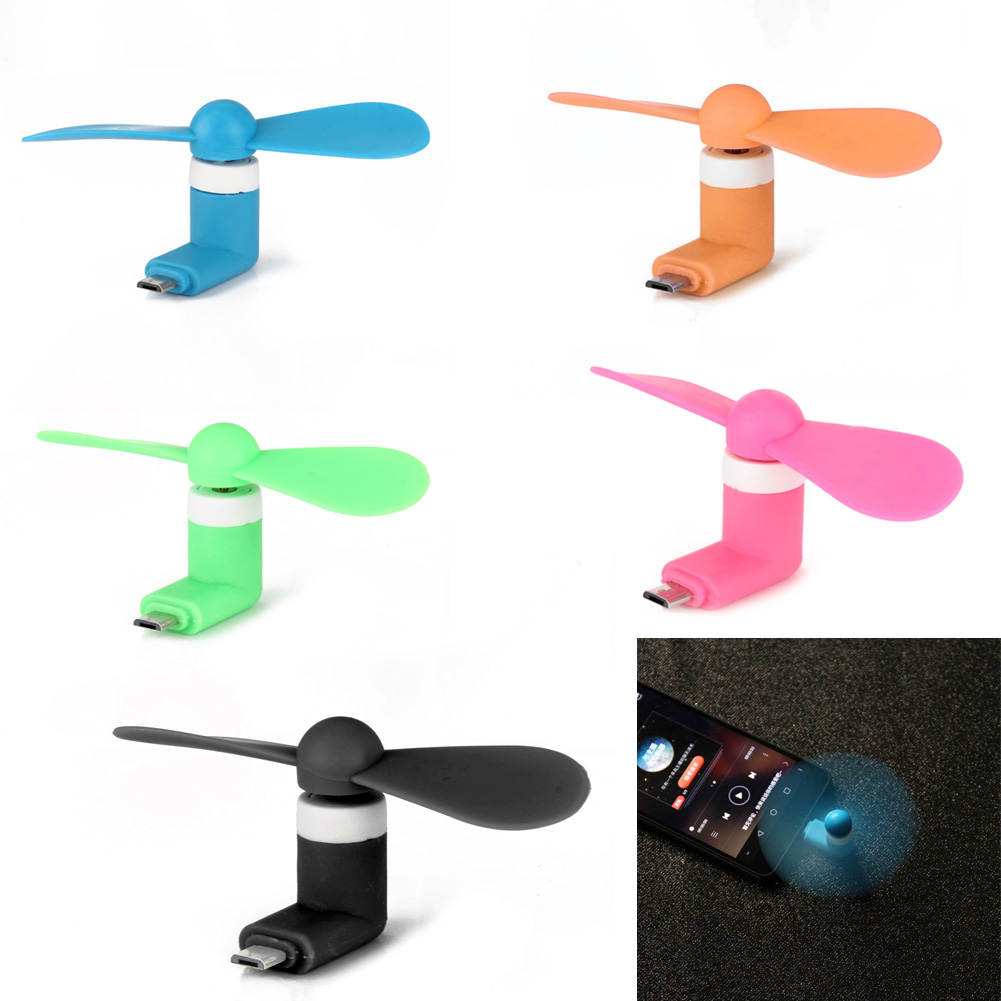 New 2 in1 Mini Micro USB Mobile Phone Fan Portable Flexible Mini USB Fan for PC Tablets Android Smartphones XXM8