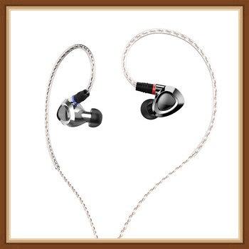 SHANLING ME500 Triple Driver Hybrid Earphones Knowles Driver 2BA+DD HiFi Music Monitor In-Ear Earphones w/ Detachable MMCX Cable