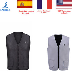 2018 New Men Women Electric Heated Vest Heating Waistcoat USB Thermal Warm Cloth Feather Hot Sale Winter Jacket Hiking drop ship