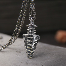 Antique Silver S925 Sterling Fashion Stone Age Short Weapons Necklace & Pendant Men And Women