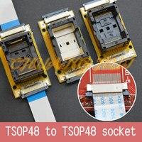 Program Test SMD welding TSOP48 to TSOP48 test socket Pitch=0.5mm TSOP48 On line test socket