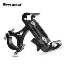 WEST BIKING сплав Мобильный телефон подставка держатель для горных велосипедов дорожный велосипед телефона держатель 3,5-6,5 дюймов телефона велосипедное крепление