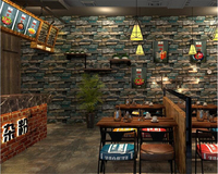 beibehang 3D simulation brick brick PVC wallpaper retro personality stone pattern bar cafe KTV industrial wind wall paper tapety