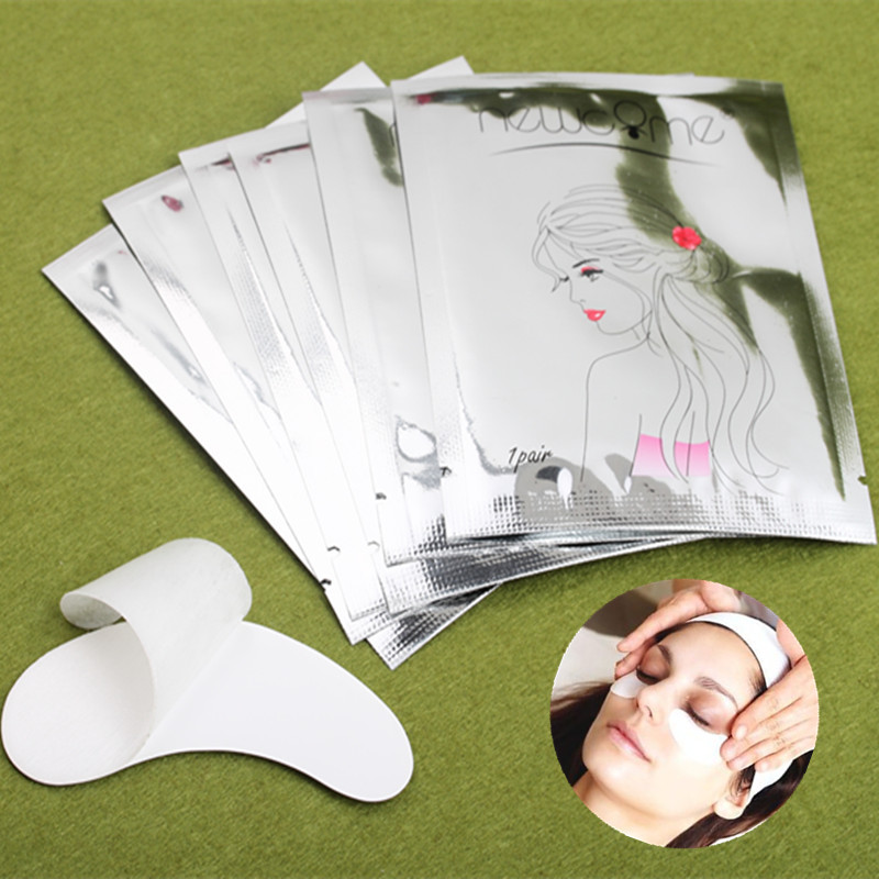 NEWCOME Eye Gel Pads Lint Free Eyelash Extension Gel Patch Eye Pads Under Eye Paper Patch For Individual Volume Eyelash
