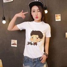 dae5a515c CDJLFH Harajuku Summer Casual Kawaii BTS Print Tshirt Ulzzang Tumblr Short  Sleeve