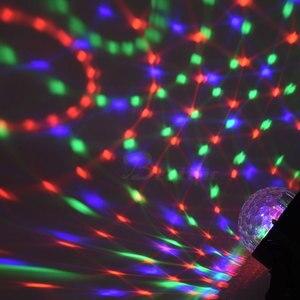 Image 4 - Lampe disco RGB boule magique LED, éclairage décoratif de scène, USB, Center de musique pour la maison, éclairage de scène, Stroboscopes et son fête