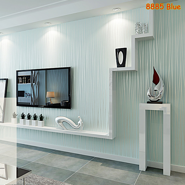 Buy 1 roll meter light blue 3d for Light blue wallpaper living room
