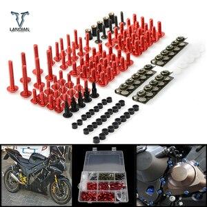 Image 1 - CNC 범용 오토바이 액세서리 페어링/앞 유리 볼트 나사 세트 Suzuki 750 katana 600 katana SV650 sv650s