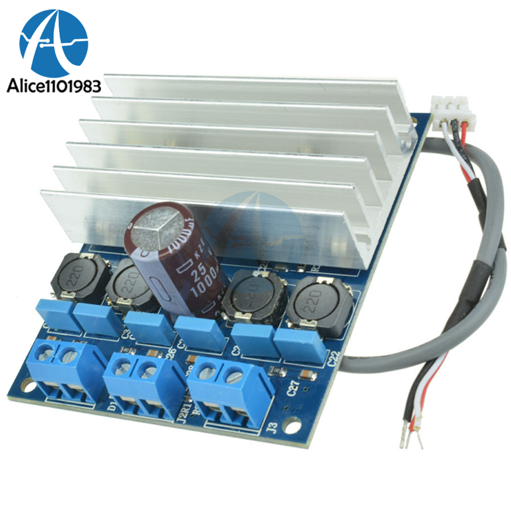 2 X 50w 8 Ohms Tda7492 D Class High Power Digital Amplifier Board Audio Circuit Blue Silver Amp Radiator Moudle Speed Smt 10 26v Dc Good Sound In Integrated Circuits From